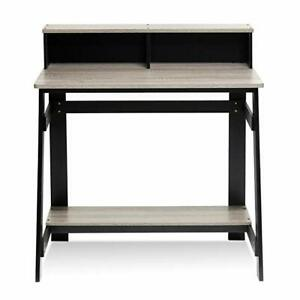 Oak Gray Pc Small Computer Study Student Desk Laptop Table Drawer Home Office