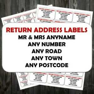 Personalised Mini Colour Stickers Address Labels 65 Per Sheet