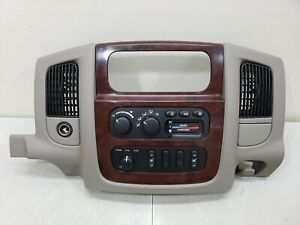 2002 2005 Dodge Ram 1500 Woodgrain Center Dash Trim Bezel Radio Surround Panel