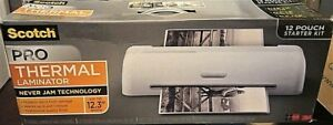 Lot Of 2 Scotch Pro Thermal never Jam Laminator Up To 12 3 In Wide