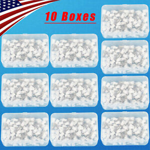100 1000 Dental Polishing Polisher Prophy Angle Cups Latch Tooth Brush White Dno
