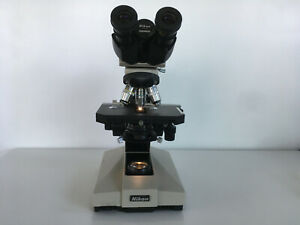Nikon Labophot Microscope With 10x 40x 100x Plan Achromat Objectives