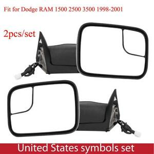 Power Heated Towing Mirrors For Dodge Ram 1500 2500 3500 1998 2001 55076489ae