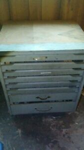 8 Drawers Total Of Letterpress Handset Metal Type And Assorted Printing Cuts