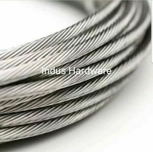 Stainless Steel T316l Cable Railing 5 32 1x19 Commercial Grade New Stock