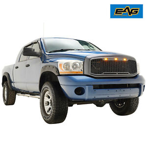 Eag Led Grille Replacement Full Grill Fit 06 08 Dodge Ram 1500 06 09 Ram 2500
