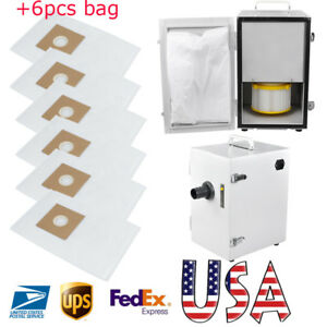 Usa Dental Lab Digital Dust Collector Unit Vacuum Cleaner Equipment Extra 6 Bags