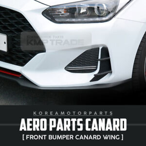 Aero Parts Front Bumper Air Duct Canard Wing 2pcs For For Hyundai 19 20 Veloster