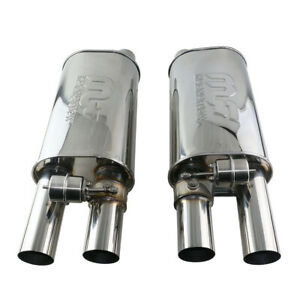 2 5 Adjst The Sound Muffler With Exhaust Valve 8 1 6 Inch Body Double Outlet