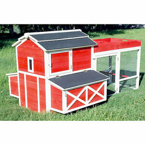 Merry Products Red Barn Chicken Coop With Rooftop Planter