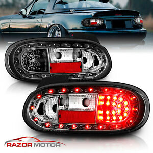 1999 2000 2001 2002 2003 2004 2005 Mazda Miata Mx 5 Black Led Brake Tail Lights