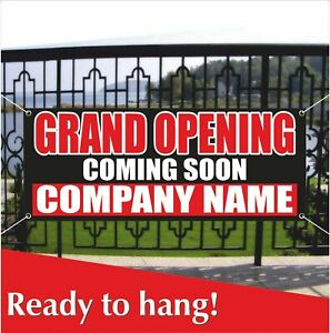 Grand Opening Coming Soon Banner Vinyl Mesh Banner Sign Custom Company Name