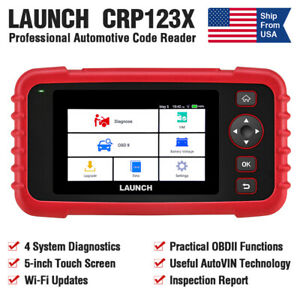 Launch X431 Crp123x Obd2 Scanner Auto Diagnostic Tool Car Engine Abs Airbag Srs