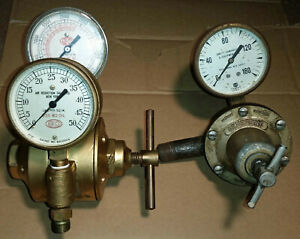 Airco 8401 Oxygen Regulator Refurbished Bonus Generant 4hc Gauge Steam Punk