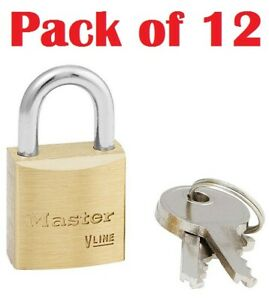 pack Of 12 Master Lock 4120ka Keyed Alike Brass Padlock With 2 Keys 4120kawwg