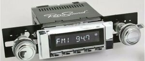 Retrosound 1963 64 Chevy Impala Zuma Radio Am Fm Rds Usb Aux Chrome