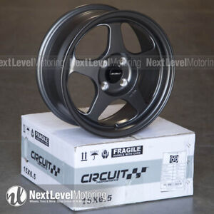 Circuit Cp22 15x6 5 4 100 35 Flat Gun Metal Wheels Fits Acura Integra Ls Gs Gsr