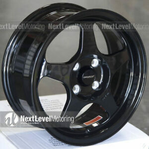 Circuit Cp22 15x6 5 4 100 35 Gloss Black Wheels Fits Acura Integra Ls Gsr Dc2