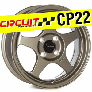 Circuit Performance Cp22 15x6 5 4 100 35 Flat Bronze Wheels Rims Spoon Style
