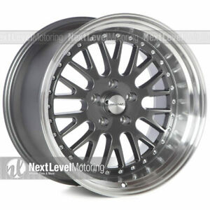 Circuit Performance Cp21 18x9 5 18x11 5 114 3 20 Gun Metal Wheels Staggered