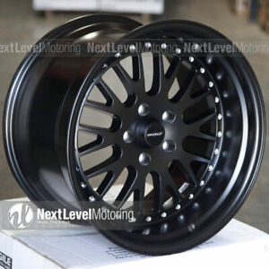 Circuit Cp21 18x9 5 18x11 5 114 3 20 Flat Black Wheels Staggered Fits 350z 370z