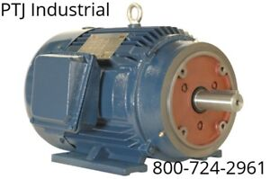 2 Hp Electric Motor 145tc 3 Phase 3600 Rpm Severe Duty Premium Efficient New