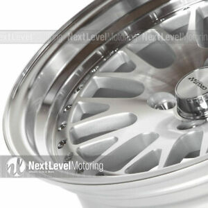 Circuit Cp21 15x8 4 100 25 Silver Machined Wheels Fits Acura Integra Dc2 Mesh