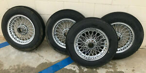 Mg Austin Healey Spoked Vintage Wheel Set x4 15inch Used Good Condition