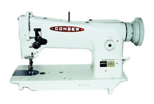New Consew 206rb 5 Upholstery Sewing Machine With Kd Stand And 3 4hp Servo Motor