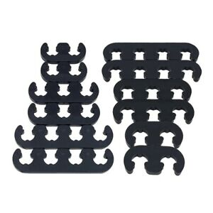 2sets 7mm 8mm Black Spark Plug Wire Separators Dividers Looms 9728 For Sbc Bbc