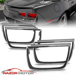 set Of 4 for 10 13 Chevy Camaro Lt Ls Ss Tail Light Glossy Black Bezel Covers