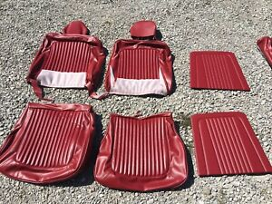 New 1969 Ford Mustang Coupe Red Standard Seat Full Set Upholstery Covers