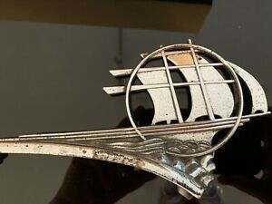 1935 Plymouth Mayflower Hood Ornament Very Rare It s 100 Complete Excellent