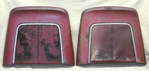 1966 Cadillac Impala Chevelle Strato Bucket Bench Seat Back Pair Metal