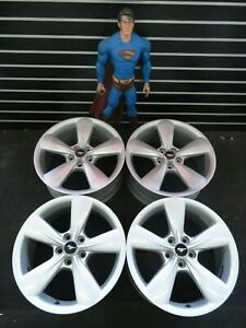 18 Ford Mustang Wheels 2013 2014 Silver Factory Oem Rims 3907 See Pictures