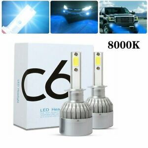 H1 Led Headlight Bulbs 8000k Ice Blue Kit High Low Beam Car Lights 100w 20000lm