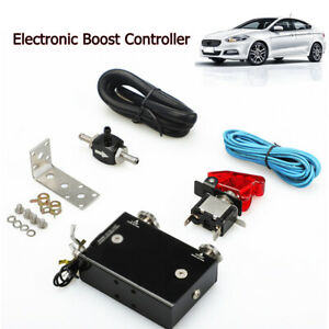 Black Psi Turbocharger Dual Stage Electronic Turbo Boost Controller Booster Kit
