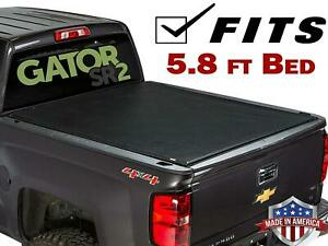 Black Roll Up Tonneau Cover For 2009 2018 Dodge Ram 1500 5 8ft Bed