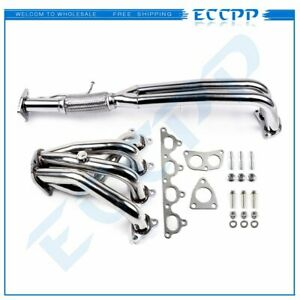 Stainless Racing Manifold Header exhaust For 90 93 Honda Accord 2 2 F22a 2 4 dr