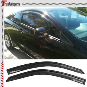 Fit 08 12 Honda Accord Coupe Rain Vent Window Visors Slim Smoke Mugen Guard 2pc