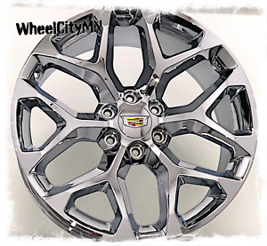 20 Inch Chrome Snowflake 2017 Cadillac Escalade Oe 5668 Replica Wheels 6x5 5 27