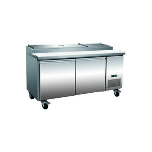 Serv ware Pp67 9 hc 70 Pizza Prep Table Refrigerated Counter