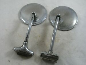 Vintage Pair Of Car Or Truck Exterior Mirrors 1930s 1940s 1950s Ford Dodge Chevy