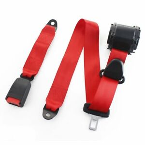 1piece 3 Point Harness Safety Belt Lap Strap Seatbelt Color Red Fits Jeep