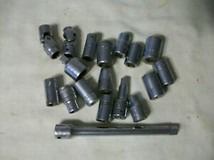 Socket Mixed Lot Of 18 Pieces Total Snap On Cornwell Sk Craftsman