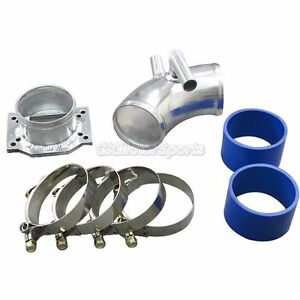 Cxracing Maf Flange Cold Air Intake Pipe Kit For E30 Bmw With Blue Hose