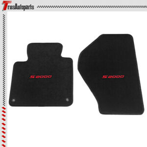 For 00 08 Honda S2000 Convertible 2dr Black Nylon Floor Mat 2pc Anti Slip Carpet