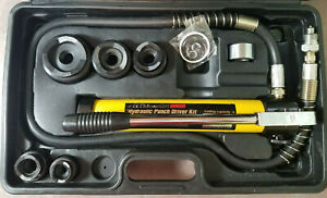 Pittsburgh Hydraulic Punch Knockout Driver Kit Set Vg Almost Complete