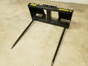 Skid Steer Bale Spears 3500lb Double Spear Hd Frame Multiple Options Tractor