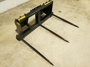 Skid Steer Bale Spears 3500lb Triple Spear Hd Frame Multiple Options Tractor